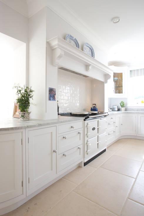 Roche Marron limestone in an Artisan Worn finish from Artisans of Devizes. :  Kitchen by Artisans of Devizes