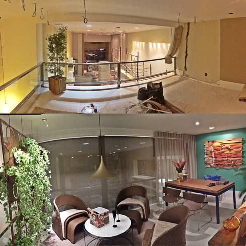 TRANSFORMAÇÃO: Salas de estar ecléticas por Fabio Pantaleão Arquitetura+Interiores