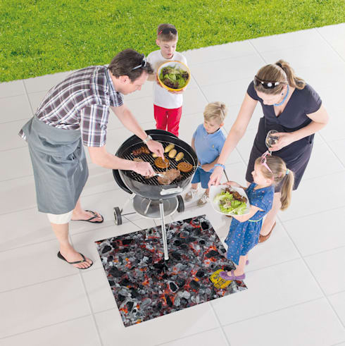 Tapis de protection barbecue FIRE: Jardin de style  par ITAO