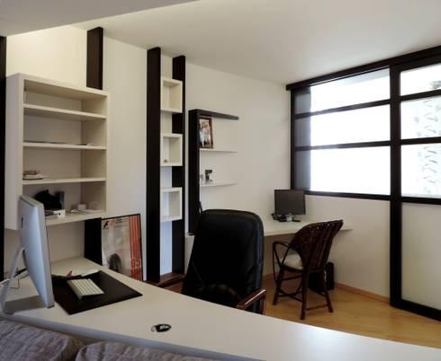 espace bureau redéfini: Bureau de style de style Moderne par Emilie Bigorne, architecte d'intérieur CFAI