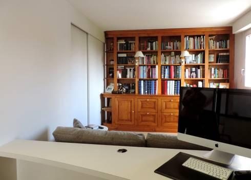 fermeture de l'espace pour le transformer en chambre d'amis: Chambre de style de style Moderne par Emilie Bigorne, architecte d'intérieur CFAI