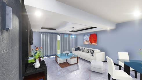 Villas las Iguanas. Villa 44. : Salas de estilo moderno por TisR Estudio