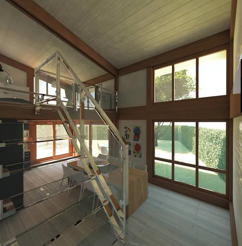 Ampliamento in legno con soppalco di 3dforme homify for Costo ampliamento in legno