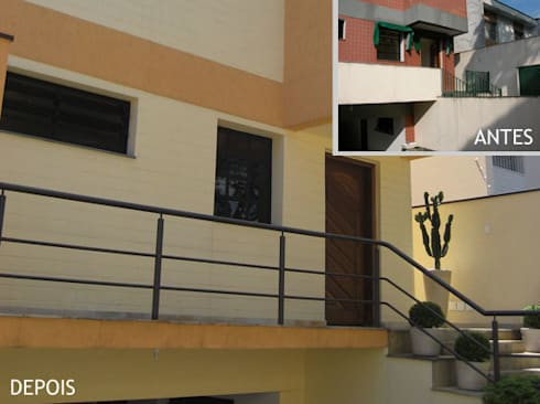 Entrada - escada:   por Projetual Arquitetura