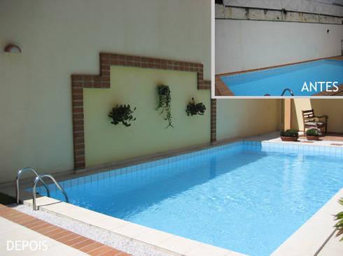 Muro piscina:   por Projetual Arquitetura
