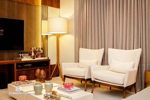 Home - G A: Sala de estar  por Carolina Fagundes - Arquitetura e Interiores