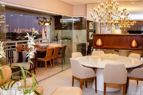 Jantar e Varanda - G A: Sala de jantar  por Carolina Fagundes - Arquitetura e Interiores
