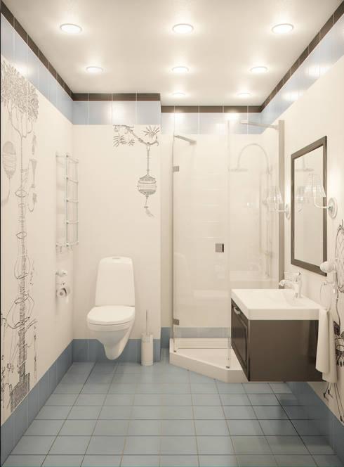 """""""Симфония в синем"""": Ванные комнаты в . Автор – Marina Sarkisyan"""