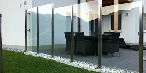 windfang windschutz von stalmach group homify. Black Bedroom Furniture Sets. Home Design Ideas