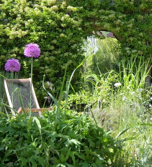 Bristol city garden in spring:  Garden by Karena Batstone Design
