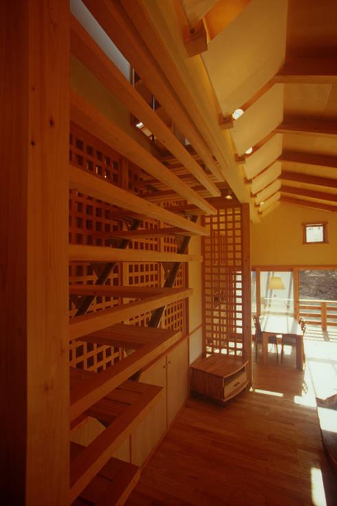 御嵩の家: 風建築工房が手掛けた廊下 & 玄関です。