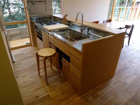 前山の家: 風建築工房が手掛けたキッチンです。