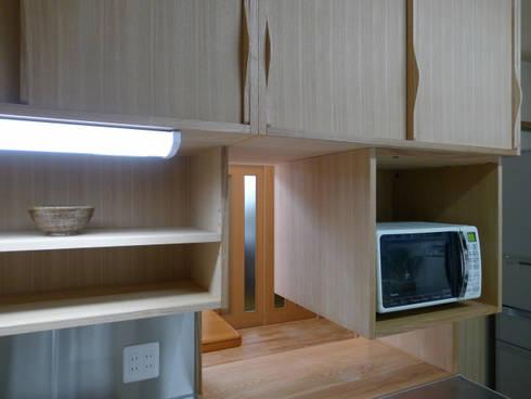 西岡の家: 風建築工房が手掛けたキッチンです。