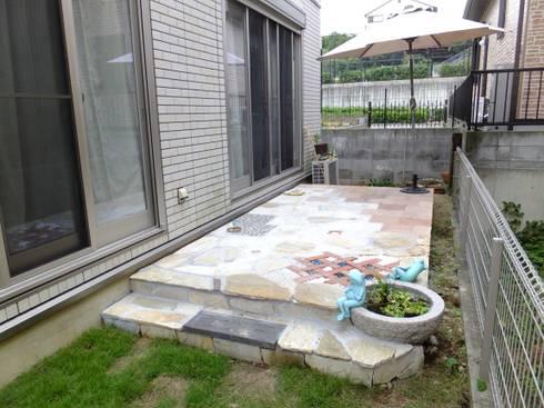 セルフビルドの庭つくり お手伝い: アーテック・にしかわ/アーテック一級建築士事務所が手掛けた庭です。