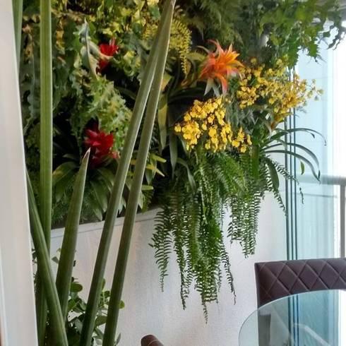 Jardim Vertical: Varanda, alpendre e terraço  por Amaria Gonçalves - Design Paisagismo