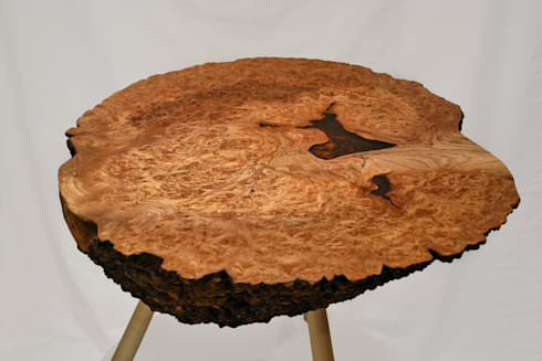 Burr Elm Coffee Table: rustic Living room by Clachan Wood