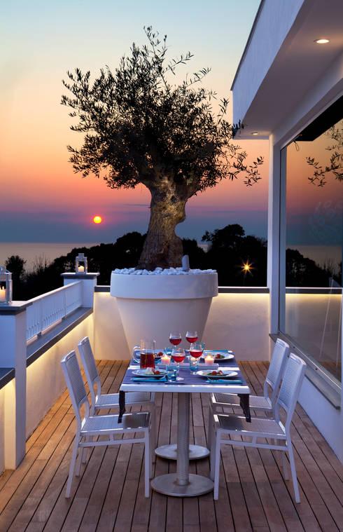 Balcon, Veranda & Terrasse de style  par PDV studio di progettazione
