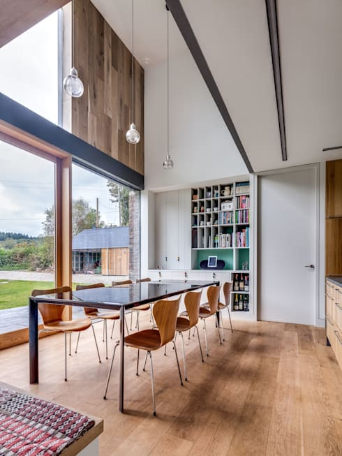 The Nook:  Dining room by Hall + Bednarczyk Architects