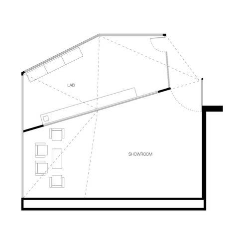 Dickies Showroom: Planta Arquitectónica :  de estilo  por TAAV Arquitectos