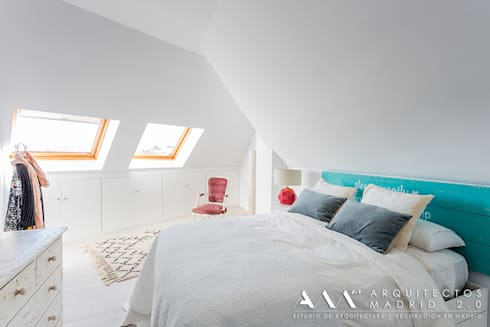 mediterranean Bedroom by Arquitectos Madrid 2.0