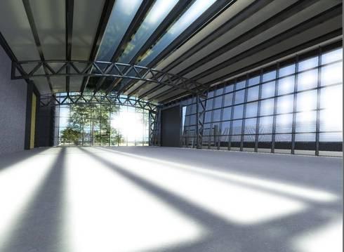 Ampliamento capannone produttivo di studio ing elisa for Capannone in stile