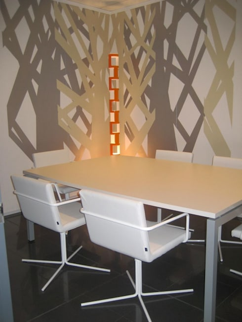 Salle à manger de style  par Murales Divinos