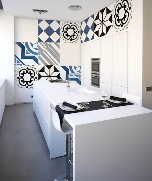 minimalistic Kitchen by Murales Divinos