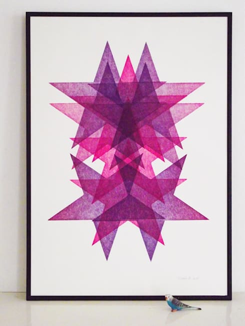 Star Portrait No.1:  Artwork by Lucky budgie Letterpress