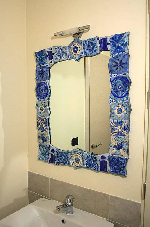 Specchio cm. 60x70: Bagno in stile  di Forgiatore di Elementi di Giuseppe Sautto