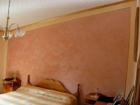 Testata del letto con stucco a cera rosa antico di arte decorazioni di marco sinibaldi homify - Testa del letto ...
