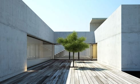Casa A+P: Casas minimalistas por Artspazios, arquitectos e designers