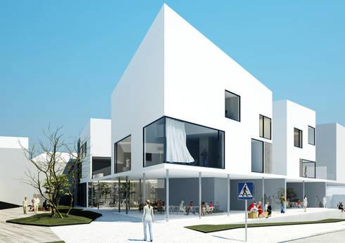 residential complex ZEN: Casas minimalistas por Artspazios, arquitectos e designers