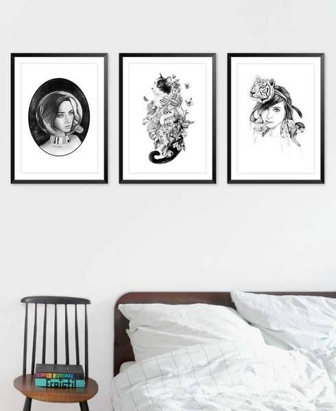 Botanical Cat Poster:  Schlafzimmer von JUNIQE