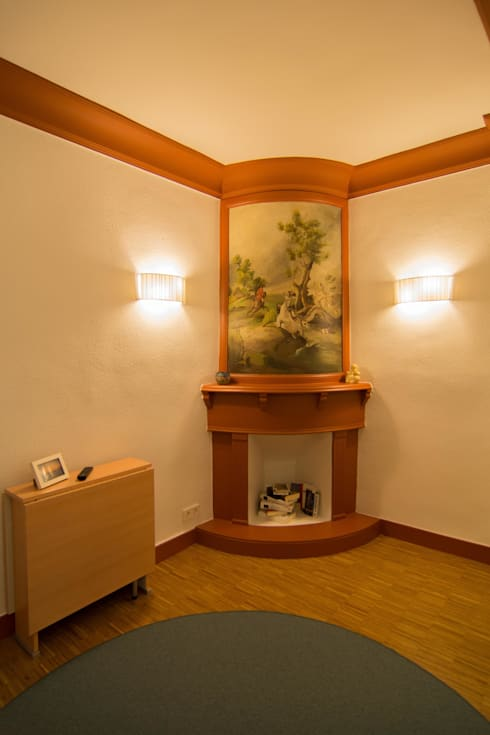 Hall de entrada - Reforma integral en Donostia / San Sebastián (Gipuzkoa): Pasillos y vestíbulos de estilo  de Apal Estudio