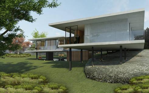 casa MC: Casas industriais por Artspazios, arquitectos e designers