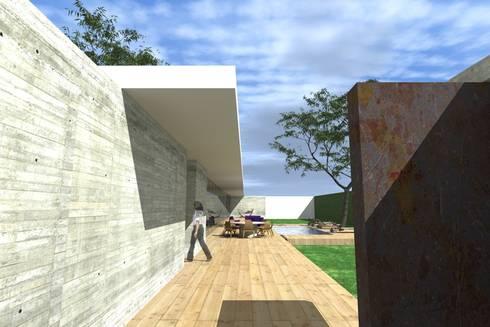 CASA GH: Casas de estilo moderno por ZENDEJAS ARQUITECTOS