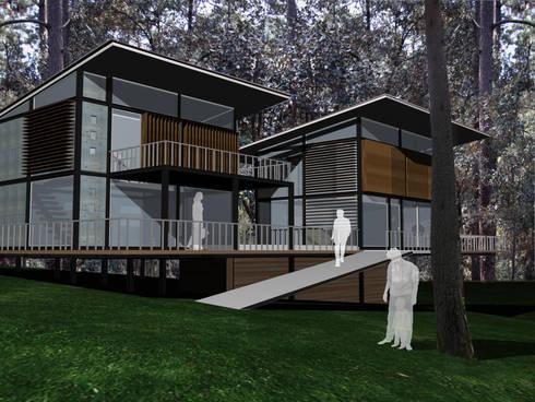 Proyecto Avándaro: Casas de estilo moderno por Karell Studio