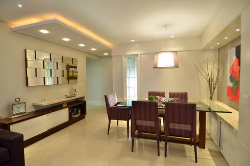 Modernizando apartamento : Salas de jantar modernas por Tania Bertolucci  de Souza  |  Arquitetos Associados
