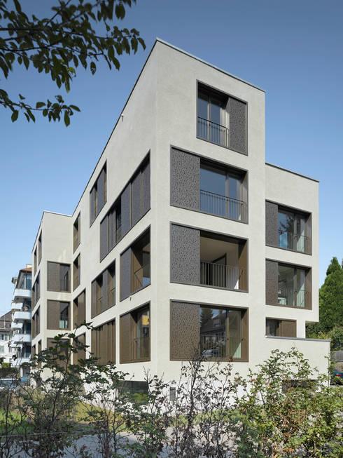 Moderne Mehrfamilienhäuser Bilder mehrfamilienhaus haldenstrasse leuppi schafroth architekten