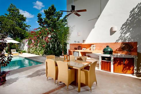 Casa CP78: Terrazas de estilo  por Taller Estilo Arquitectura