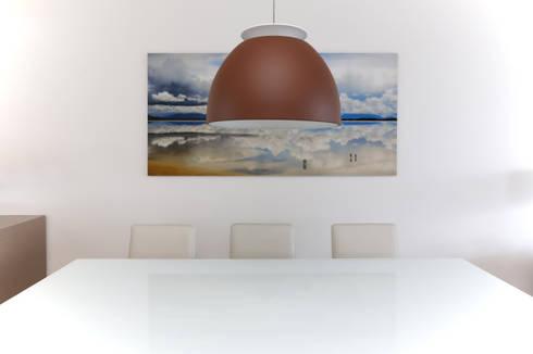 Apartamento M R: Salas de jantar modernas por Now Arquitetura e Interiores