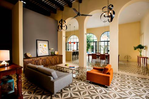 Casa WS52: Salas de estilo colonial por Taller Estilo Arquitectura