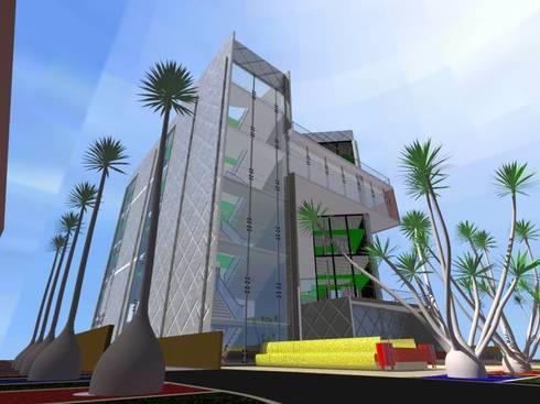 Fachada: Edificios de Oficinas de estilo  por Estudio Ideas