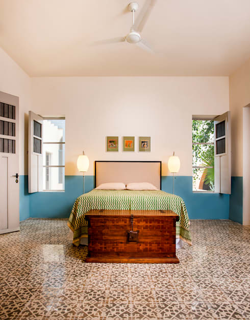 Casa WS52: Recámaras de estilo colonial por Taller Estilo Arquitectura