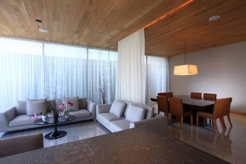 Estar Principal: Salas de estilo moderno por Código Z Arquitectos
