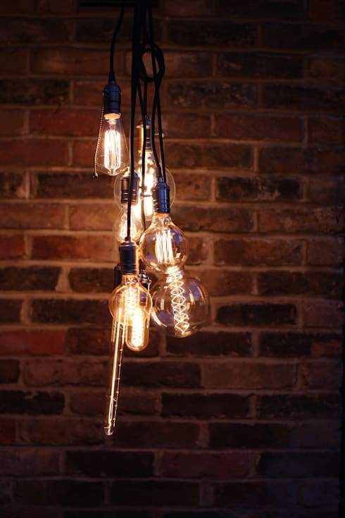 Decorative filament light bulbs:  Houses by William and Watson