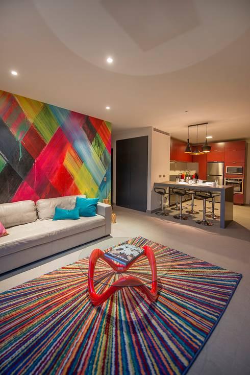 Livings de estilo moderno por ESTUDIO TANGUMA