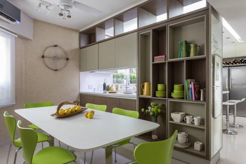 comedor diario: Cocinas de estilo moderno por GUTMAN+LEHRER ARQUITECTAS