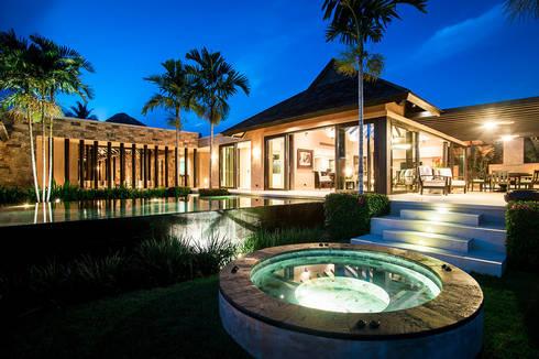 Villa Siriyana: Albercas naturales de estilo  por Stone Contractors