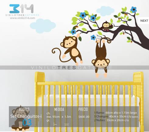 Vinilos Decorativos Arboles Infantiles y Sets Decorativos: Recámaras infantiles de estilo moderno por Vinilo314